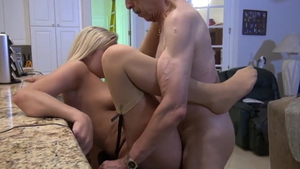 Very nice and young blonde cock sucking