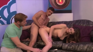Large tits Molly Jane threesome