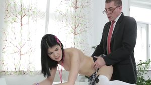 Rough sex accompanied by young teacher Lady Dee