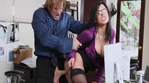 Eva Angelina group sex in office