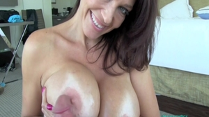 POV receiving facial escorted by busty stepmom Charlee Chase