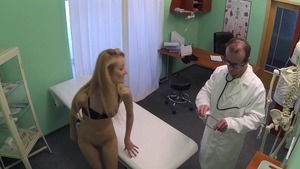 Hard pounding escorted by skinny doctor