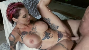 Big tits Anna Bell Peaks and Anna Bell female orgasm sex scene