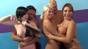 Rough sex accompanied by Ava Devine and Laela Pryce