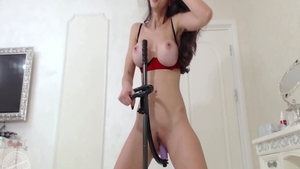 Kinky babe playing with sex toys