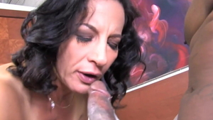 Mature Melissa Monet feels up to slamming hard in HD
