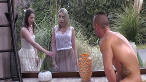 Submissive nailing escorted by big tits blonde Stella Cox