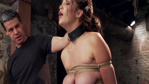 Hardcore tied up together with super hot babe Holly Michaels