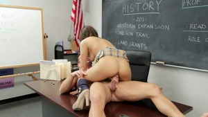 Loud sex in the company of couple Sara Luvv