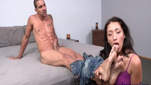 Cock sucking along with big ass american babe Marco Rivera