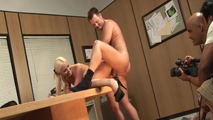 Big boobs Brooke Haven raw doggy fucking during interview