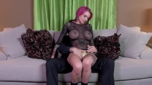 Hard pounding with busty redhead