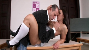 Receiving facial scene starring big ass rough Athina Love