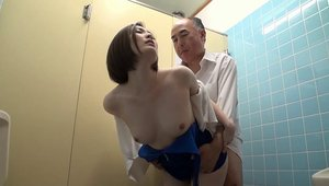 Erotic asian good fucking in the toilet