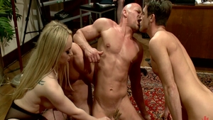 Raw fucking together with horny Chad White among Aiden Starr