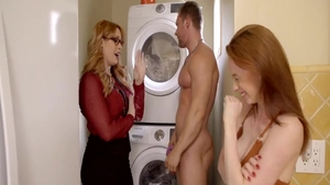 Real fucking with busty Chad White accompanied by Edyn Blair