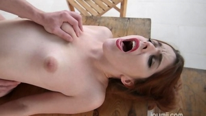 Redhead goes for rough sex