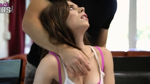 Natural big boobs hard creampie missionary fucking in HD
