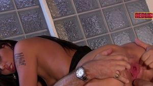 George Uhl beside Loona Luxx in tight stockings doggy style