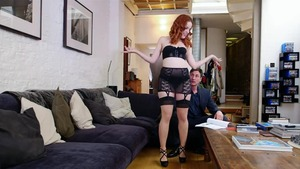 Redhead Amarna Miller sucks dick and fucks
