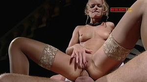Vanessa Mae as well as Dora Venter in sexy stockings threesome