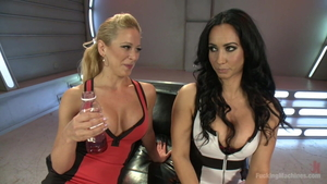 Large tits Cherie Deville & incredible Isis Love orgasm