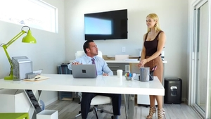 Large tits trimmed pornstar Johnny Castle 69 in office