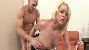 Large tits babe Johnny Sins rough blowjobs