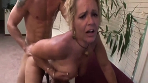 Steamy sloppy fucking starring large tits blonde Kelly Leigh