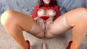 Big tits wet pussy babe upskirt orgasm in HD
