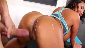 Asian August Taylor anal interracial
