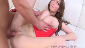 Babe Lucie Wilde as well as Busty Buffy sucking dick