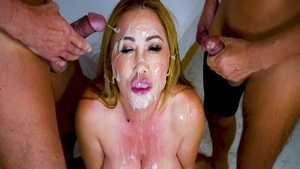 Large tits asian pornstar Kianna Dior wishes for bukkake