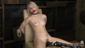 Fetish bondage along with blonde haired Lily Rader in HD