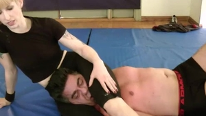 Wrestling together with erotic
