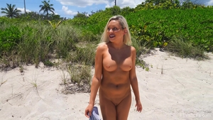 Large boobs stepmom flashing outdoors in HD