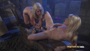 Dirty blonde Alexis Ford playing with toys in HD