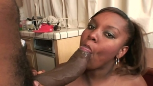 Exotic chick afro plumber loves nailing