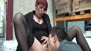 Glamour french redhead rough pussy fuck