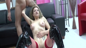 Passionate french hotwife experience pussy fuck