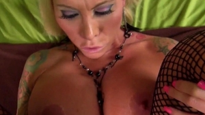 Pussy sex together with fake tits MILF