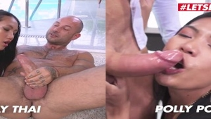 Plowing hard in company with thai slut Polly Pons
