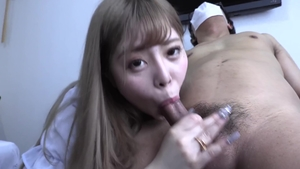 Cumshot at the casting beautiful japanese in HD
