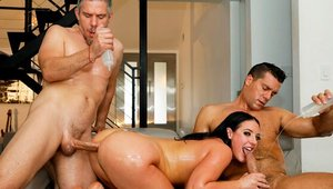 MMF in the company of big ass buxom Angela White