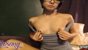 Rough nailing accompanied by petite babe