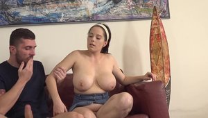 Hard nailining in company with huge boobs czech babe