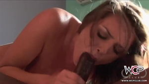 Young amateur Tori Black helps with rough nailing