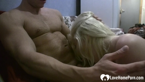 Wet blonde hair finds irresistible hard sex