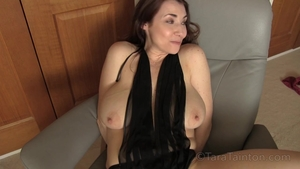 Chubby & large boobs MILF fucked in the ass solo