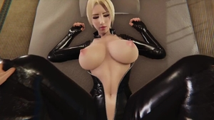 Huge boobs in latex hardcore dick sucking